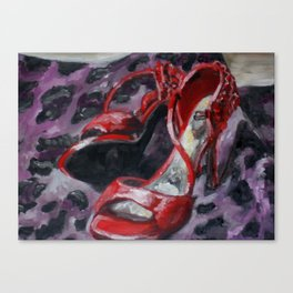 Red Heels Canvas Print