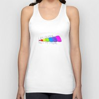 queer Tank Tops featuring Queer, Not Mythical by reallydorky