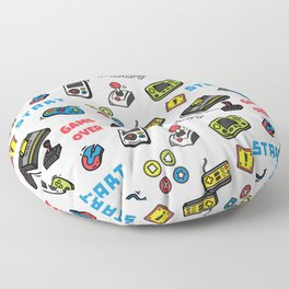 Video Game Controls Pattern Floor Pillow
