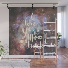 To the Moon Wall Mural
