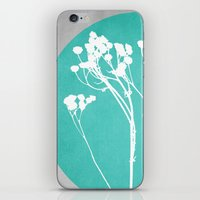 decal iPhone & iPod Skins featuring Abstract Flowers 1 by Mareike Böhmer