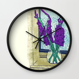 Gladioli  Wall Clock