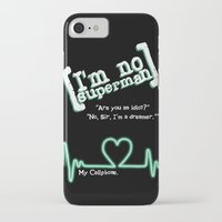 scrubs iPhone & iPod Cases featuring I'm no superman by Lowettina