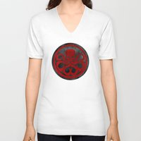 hydra V-neck T-shirts featuring Captain Hydra by Some_Designs