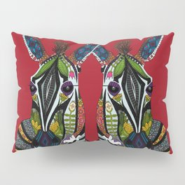 zebra love red Pillow Sham