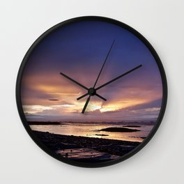 Beams of Light across the Sky Wall Clock