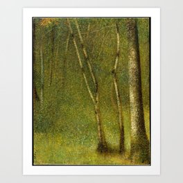 Georges Seurat - The Forest at Pontaubert Art Print