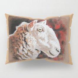 """Pastel Drawing """"Sheepish Grin"""" Pillow Sham"""