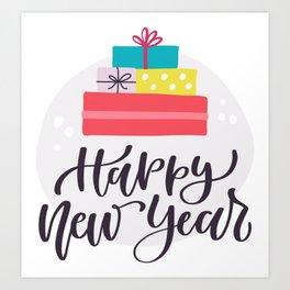 Happy New Year! Art Print