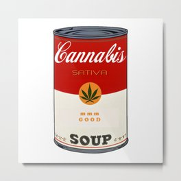 Cannabis Soup Metal Print
