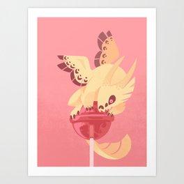 Dragonpop creamy death strawberry Art Print