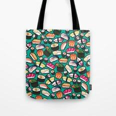 Sushi Aqua Tote Bag