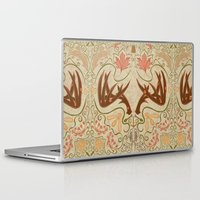 wisconsin Laptop & iPad Skins featuring Wisconsin Pattern by Kayla Catherine Illustration