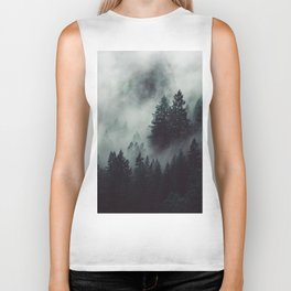Rain in the forest Biker Tank