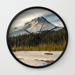 Marvelous Mount Hood at sunset Wall Clock