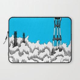 San Francisco - Sutro Tower (blue sky) Laptop Sleeve