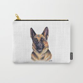 German Shepard - Dog Portrait Carry-All Pouch