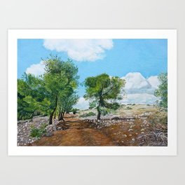 Gilboah oil on canvas board Art Print