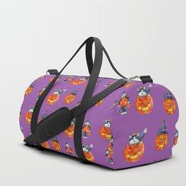 Black Cats and Jack-o-lanterns Duffle Bag