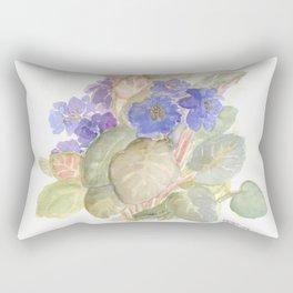 Carolina Anole Lizard in the Violets Rectangular Pillow