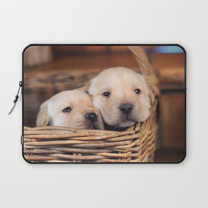 Puppies Labrador Retriever Laptop Sleeve