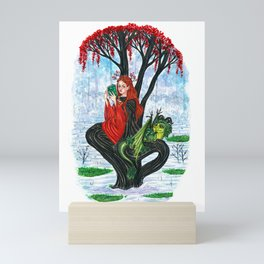 The Rowan tree sign Mini Art Print