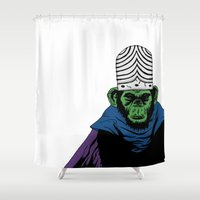 jojo Shower Curtains featuring Mojo Jojo by Miguel Villasanta