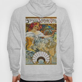 Alfons Mucha - Biscuit Lefeure-utile - Digital Remastered Edition Hoody