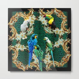 Exotic Aviary Metal Print