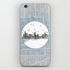 Chicago, Illinois City Skyline Illustration Drawing iPhone Skin