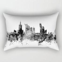 Warsaw Poland Skyline Rectangular Pillow