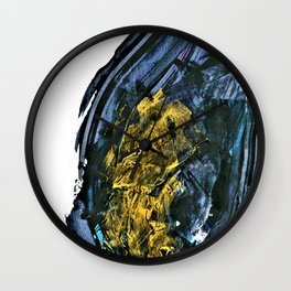 """Gold Mine"". Phthalo Green Series, No. 12. Wall Clock"