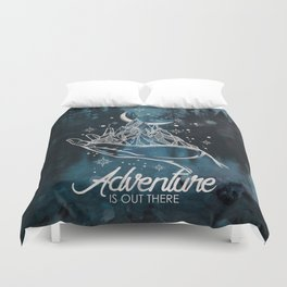 Adventure Is Out There Forest Lake Reflection - Nature Photography Duvet Cover