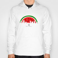 watermelon Hoodies featuring watermelon by mark ashkenazi