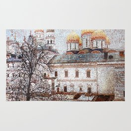 The Cathedral of the Dormition and Ivan the Great Bell Tower in the Moscow Kremlin Rug