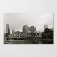melbourne Canvas Prints featuring melbourne by Maryanne Rieder