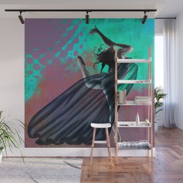 Flying Woman with veil  Wall Mural