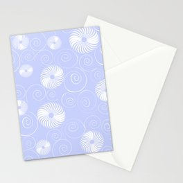 White Spirals Stationery Cards