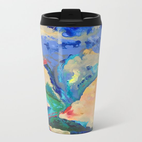 Watercolor Series (Exploding Flower) Metal Travel Mug