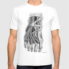 Foot White Mens Fitted Tee MEDIUM