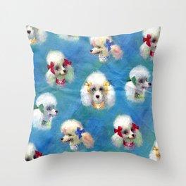 Poodle Mania Throw Pillow