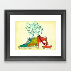 super jam Framed Art Print