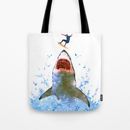 Shark Attack Tote Bag