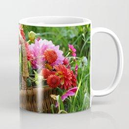 Basket of Dahlias Coffee Mug