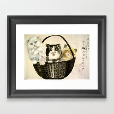 three kittens Framed Art Print