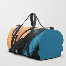 Bird of paradise flower Watercolor Duffle Bag