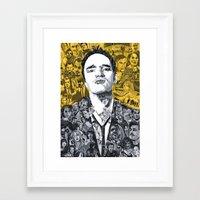 tarantino Framed Art Prints featuring Tarantino by Matthew Brazier Illustration