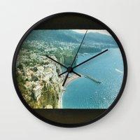 italy Wall Clocks featuring Italy  by Taylor Palmer