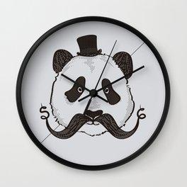 Panda Mustache, Society Style - S6 Tee Wall Clock