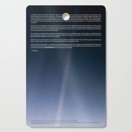 Pale Blue Dot — Voyager 1 (2020 rev.), quote Cutting Board